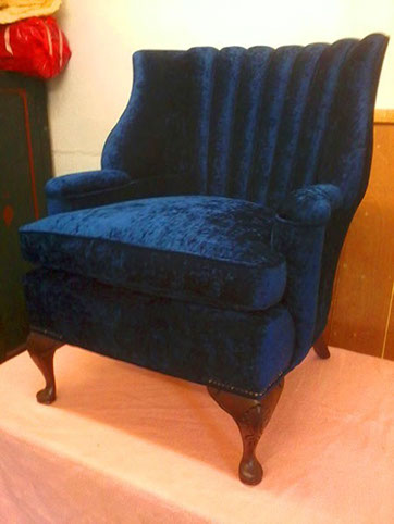 Velvet Upholstered Chair