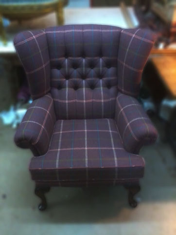 Recreated Armchair With New Buttoning