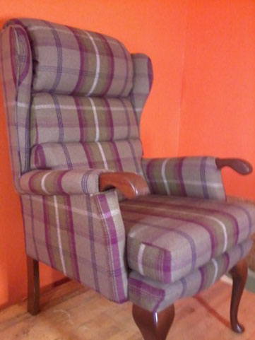 Old Chair Re-Upholstered