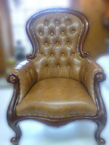Leather Chair Re-upholstered